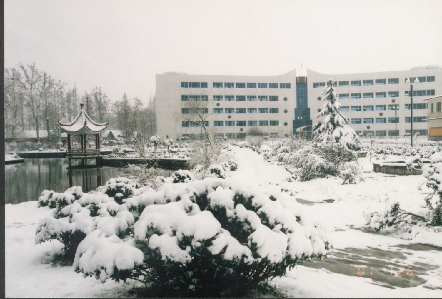 教学楼雪景